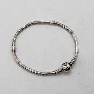 "Pandora Snake Chain Bracelet Sterling Silver 7.5"""